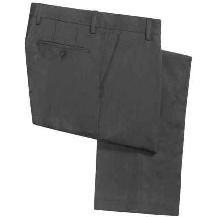 Barry Bricken Tonal Nailhead Dress Pants - Wool (For Men) in Grey Twist - Closeouts