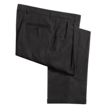 Barry Bricken Tropical Wool Dress Pants - Double Reverse Pleats (For Men) in Black - Closeouts
