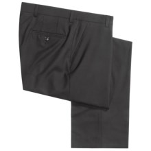 Barry Bricken Tropical Wool Dress Pants - Flat Front (For Men) in Black - Closeouts