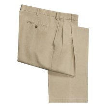 Barry Bricken Twill Khaki Pants - Pleated Front (For Men) in Khaki - Closeouts