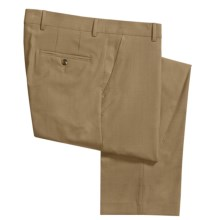 Barry Bricken Wool Cord Weave Dress Pants - Flat Front (For Men) in Tan - Closeouts