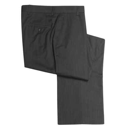 Barry Bricken Wool Dress Pants - Covert Twill, Flat Front (For Men) in Charcoal - Closeouts