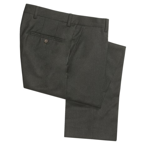 Barry Bricken Wool Flannel Dress Pants (For Men) in Olive