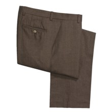 Barry Bricken Wool Flannel Pants - Flat Front (For Men) in Brown - Closeouts