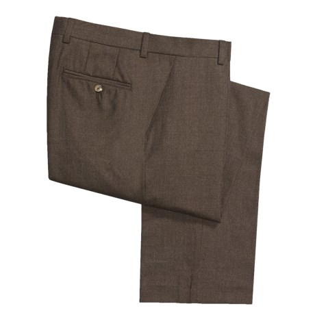 Barry Bricken Wool Flannel Pants - Flat Front (For Men) in Taupe
