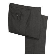 Barry Bricken Wool Flannel Pants - Flat Front (For Men) in Charcoal - Closeouts