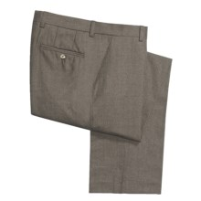 Barry Bricken Wool Flannel Pants - Flat Front (For Men) in Taupe - Closeouts