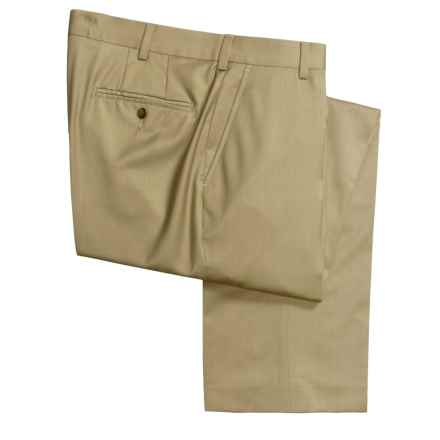 Barry Bricken Wool Gabardine Dress Pants - Flat Front (For Men) in Dark Taupe - Closeouts
