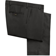 Barry Bricken Wool Gabardine Pants (For Men) in Black - Closeouts