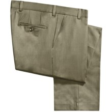 Barry Bricken Wool Gabardine Pants (For Men) in Dark Tan - Closeouts