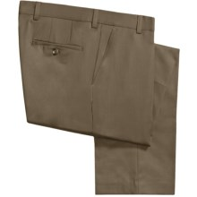 Barry Bricken Wool Gabardine Pants (For Men) in Dark Taupe - Closeouts