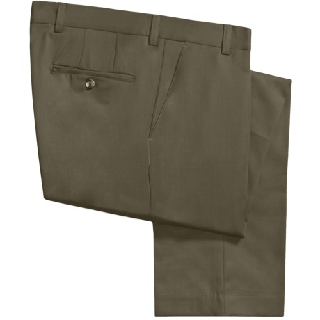 Barry Bricken Wool Gabardine Pants (For Men) in Dark Taupe