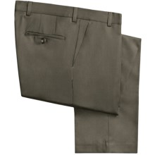 Barry Bricken Wool Gabardine Pants (For Men) in Olive - Closeouts