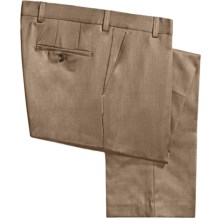 Barry Bricken Wool Gabardine Pants (For Men) in Tan Heather - Closeouts