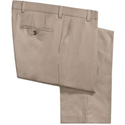 Barry Bricken Wool Gabardine Pants (For Men) in Taupe