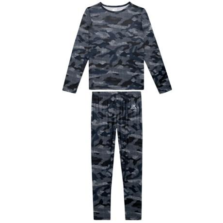 Base Layer Top and Pants Set - Long Sleeve (For Big Boys) - NAVY CAMO (S ) thumbnail