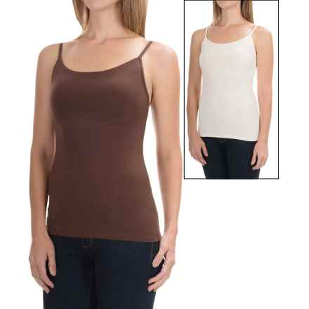 Basic Camisoles - Built-In Shelf Bra, 2-Pack (For Women) in Brown/Ivory - 2nds