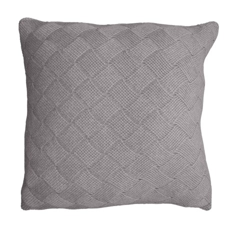 Image of Basket-Weave Knit Throw Pillow - 20x20?