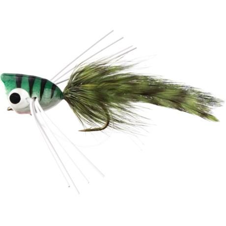Bass Popper with Legs Fly - Half Dozen - GREEN/BLACK (10 )