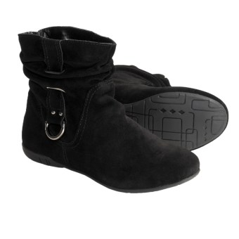 Bastien Britanie Boots - Suede (For Women) in Black