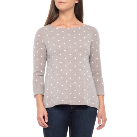 Image of Bateau Neck Sweater - 3/4 Sleeve MERINO WOOL (For Women)