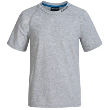 Bauer Cool Tech T-Shirt - Short Sleeve (For Big Kids) in Heather Grey - Closeouts