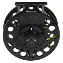 Bauer Fly Reels MacKenzie Xtreme MX6 Fly Fishing Reel - 11-15wt, Black/Splash Finish in Black/Splash Yellow - Closeouts