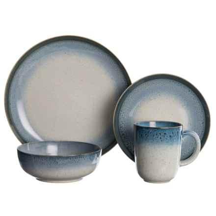 Baum Essex Marina Blue Dinnerware Set - 16-Piece in Blue/White - Closeouts