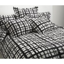 Bay & Gable Home Interiors Duvet Cover Set - Twin, Ring-Spun Organic Cotton, 300 TC in Romano Black - Closeouts