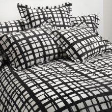 Bay & Gable Home Interiors Euro Sham - 300 TC Organic Cotton in Romano Black - Closeouts