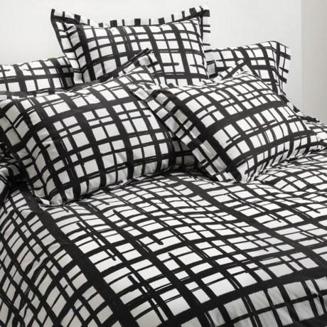 Bay & Gable Home Interiors Euro Sham - 300 TC Organic Cotton in Romano Black