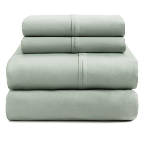 Bay & Gable Home Interiors Organic Cotton Sateen Sheet Set - 230 TC, Queen in Sage