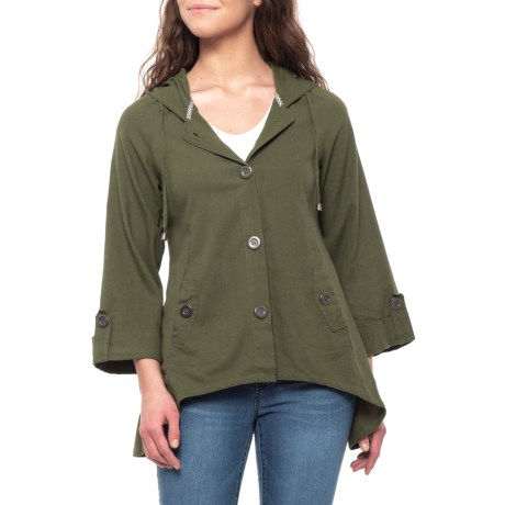 Image of Bayleaf Hooded Button-Up Jacket (For Women)