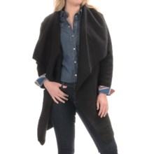 BB Dakota Belted Cardigan Sweater - Wool Blend (For Plus Size Women) in Black - Overstock
