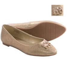 BC Footwear Tempo Flats - Suede (For Women) in Gold Suede - Closeouts