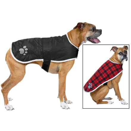 Be Good Nor'Easter Dog Jacket - Reversible in Black/Red - Closeouts