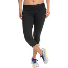 Be Up Fusion Capris (For Women) in Black/Green - Closeouts