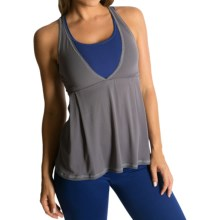 Be Up Loose Fit Power Tank Top (For Women) in Grey/Navy - Closeouts