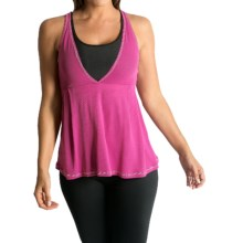 Be Up Loose Fit Power Tank Top (For Women) in Pink/Black - Closeouts