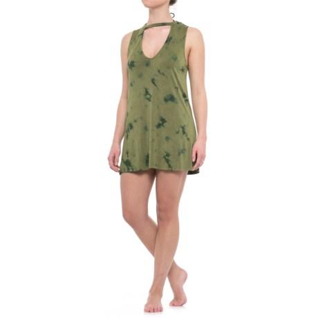 Beach Break Cover-Up Shirt - Sleeveless (For Women) in Olive