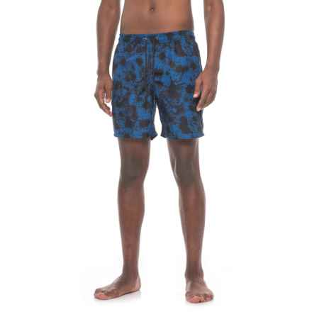 Beach Bros. Splatter Paint Swim Trunks - Built-In Mesh Briefs (For Men) in Navy - Closeouts
