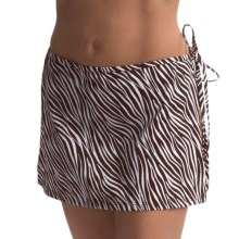Beach Cover-Up Skirt (For Women) in Brown Zebra - 2nds