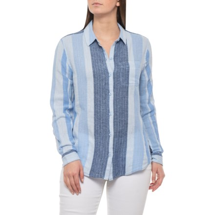 fda2650ace Beach Lunch Lounge Blue Bonnet Charley Multi-Stripe Shirt - Long Sleeve  (For Women