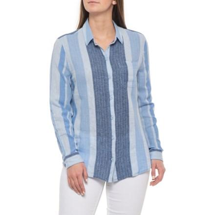 66e019247 Beach Lunch Lounge Blue Bonnet Charley Shirt - Linen-Cotton, Long Sleeve  (For