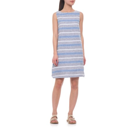 f3fd67a6f49 Beach Lunch Lounge Blue Chips Alina Dress - Linen