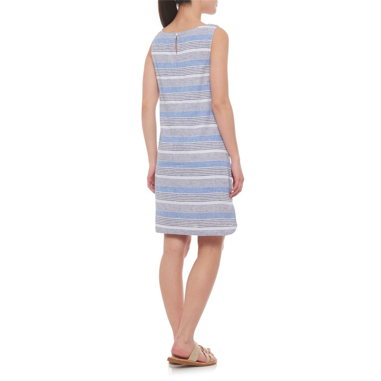 b153318d14 Beach Lunch Lounge Blue Chips Alina Dress - Linen, Sleeveless (For Women)
