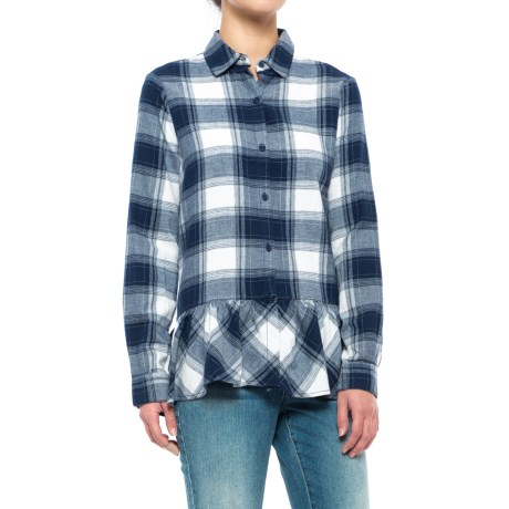 Beach Lunch Lounge Cora Flannel Shirt - Long Sleeve (For Women)