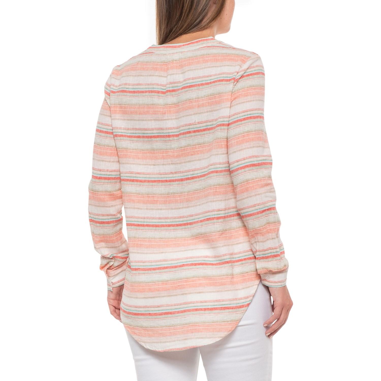 b9d92eac20 Beach Lunch Lounge Coral Sands Bee Shirt - Linen-Cotton, Long Sleeve (For  Women)