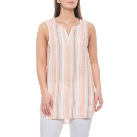 976676e518 Beach Lunch Lounge Coral Sands Jenna Shirt - Linen-Cotton, Sleeveless (For  Women