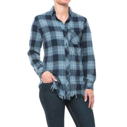 83f04fc69d Beach Lunch Lounge Elyse Flannel Shirt - Long Sleeve (For Women) in Blue  Navy